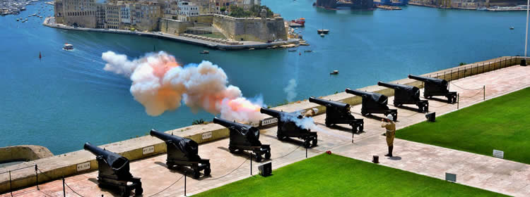 Cosa Vedere a Malta - Saluting Battery a Valletta