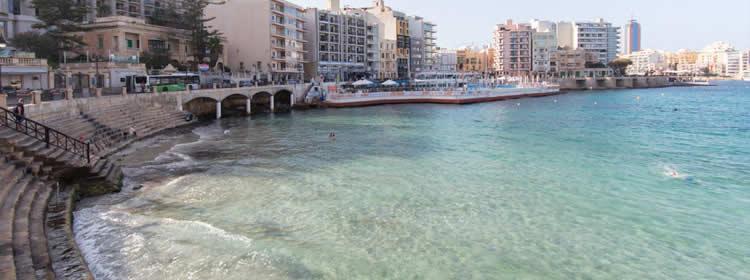 Le spiagge di Malta - Balluta Bay