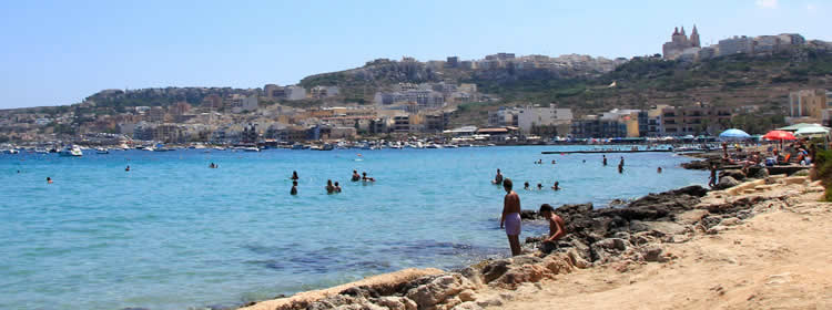 Le spiagge di Malta - Ghadira Bay o Mellieha Bay