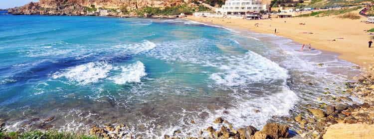 Le spiagge di Malta - Golden Bay