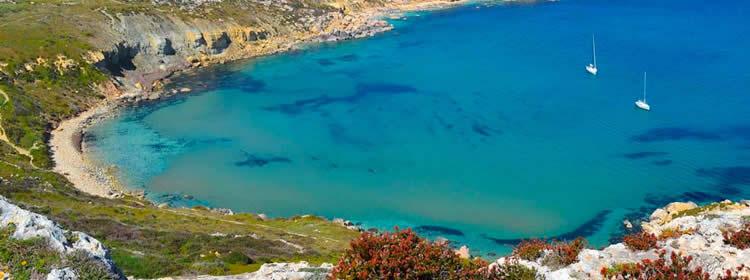 Le spiagge di Malta - Imgiebah Bay