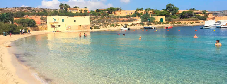Le spiagge di Comino - Santa Marija Bay
